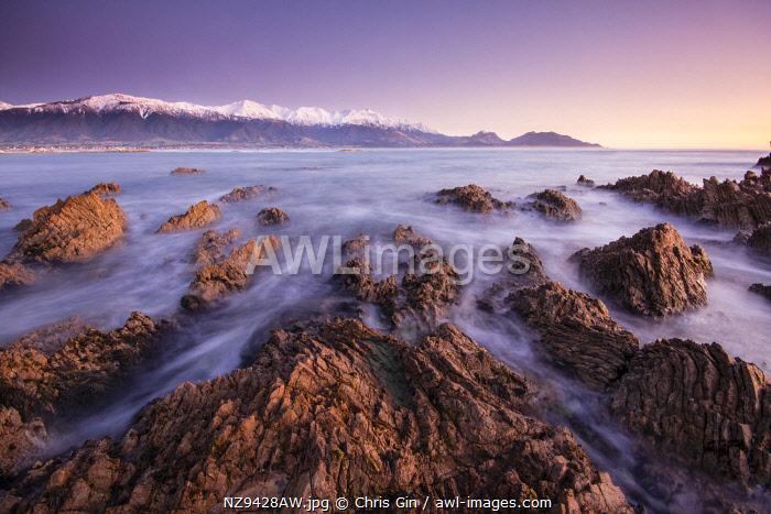 Sunrise at Kaikoura, Canterbury, New Zealand