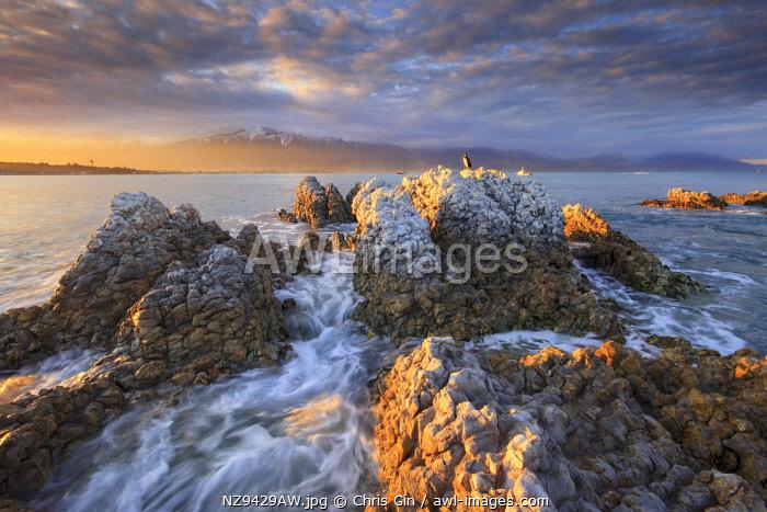 Sunset at Kaikoura, Canterbury, New Zealand