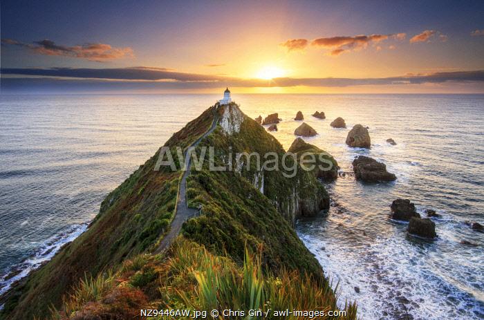 Sunrise at Nugget Point Lighthouse, New Zealand