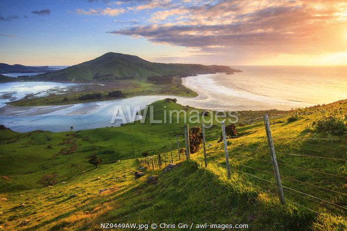 Sunrise from Sandymount, Otago Peninsula, New Zealand