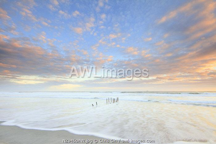 Sunset at St Clair Beach, Dunedin, New Zealand