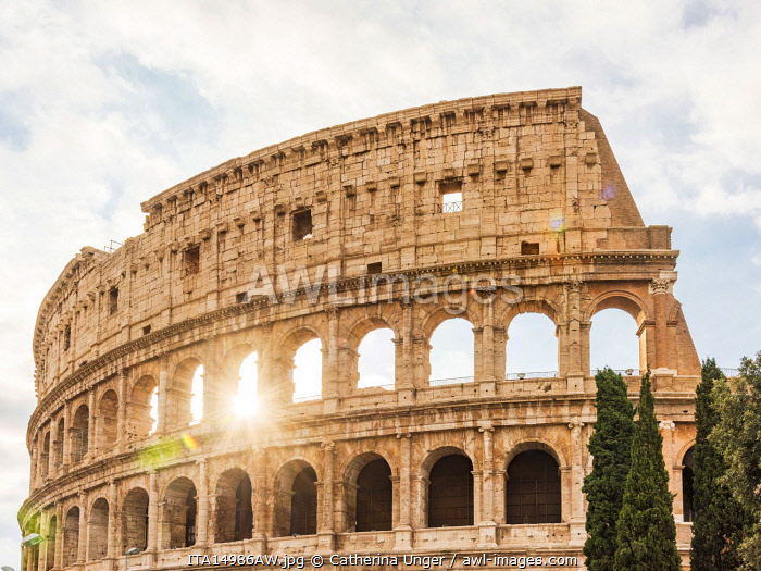 Europe, Italy, Rome. The Colosseum with morning sun.