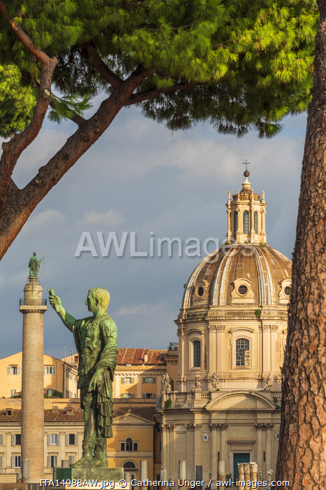 Europe, Italy, Rome. The Trajan's forum and column.