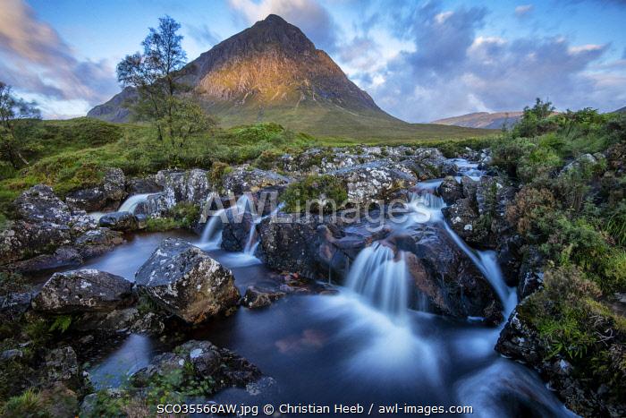Europe; UK; United Kingdom; Scotland; Scottish, Glen Etive, Buachaille Etive Mor,