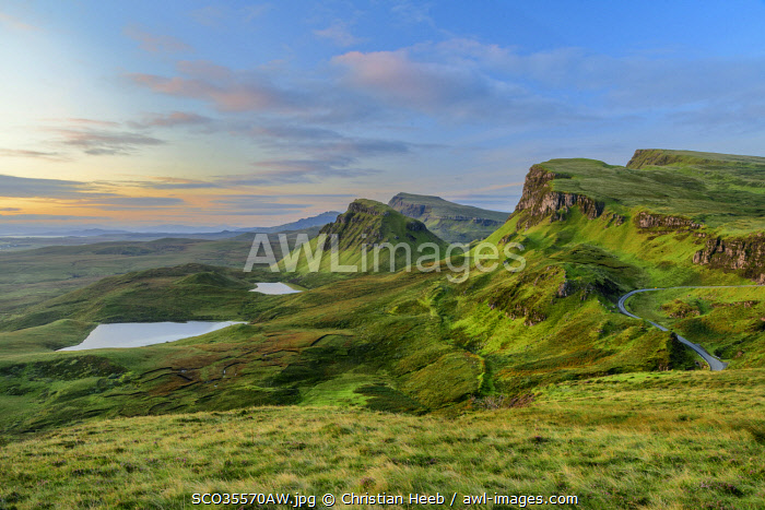 United Kingdon, Scotland, Isle of Skye, Quiraing escarpment