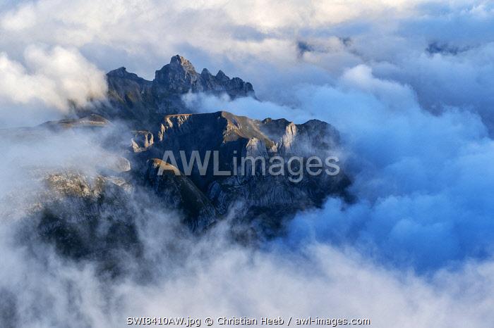 Switzerland, Bernese Alps, view from Schillthorn