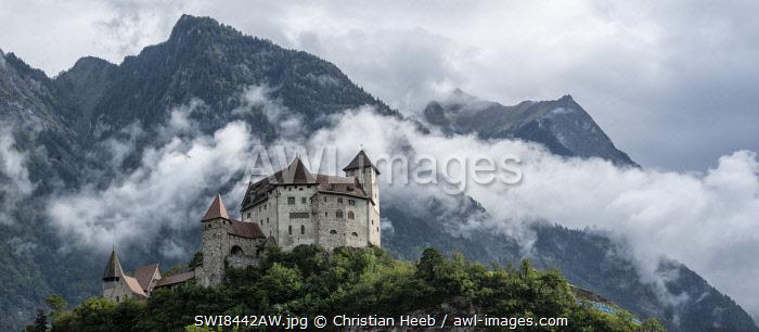 Liechtenstein, Balzers, Gutenberg Castle