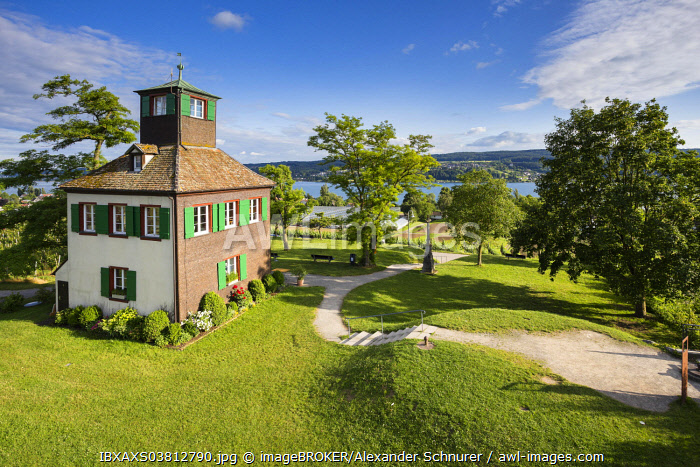 The Hochwart, the highest point on the island of Reichenau, Baden-Wurttemberg, Germany, Europe
