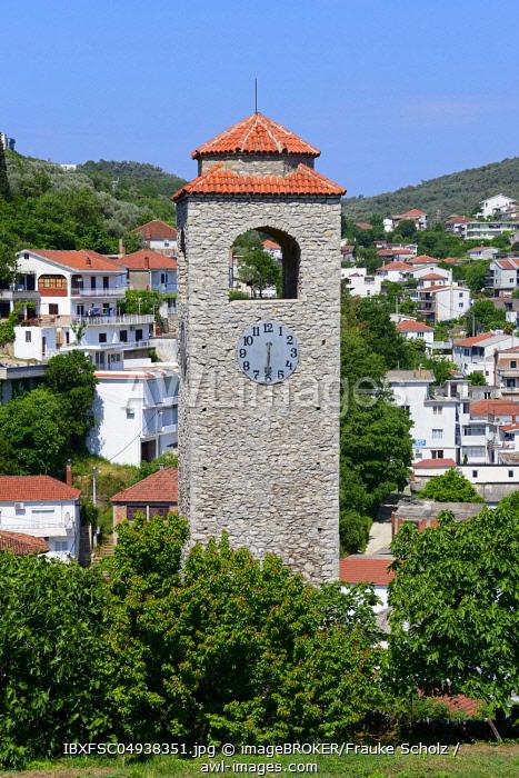 Clock tower Sat kula, Ulcinj, Montenegro, Europe
