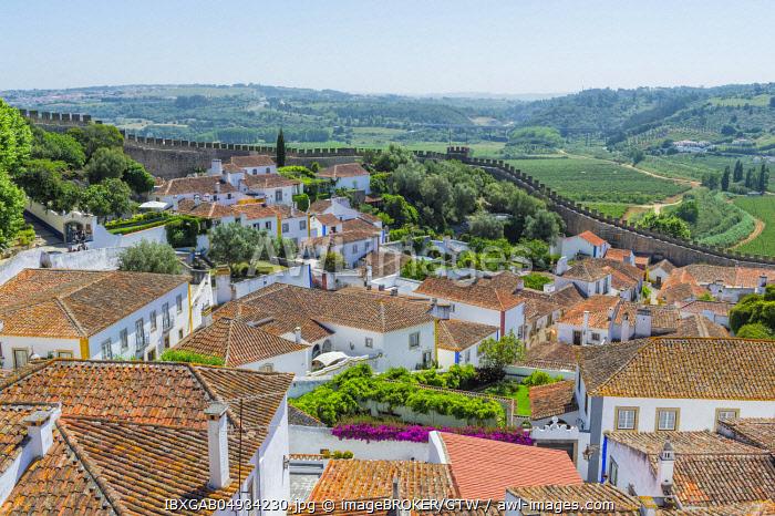 Medieval city of Obidos, Leiria District, Estremadura, Portugal, Europe