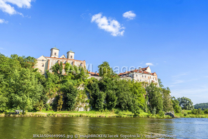 Benedictine Abbey at sunny summer day, Tyniec, Krakow, Poland, Europe
