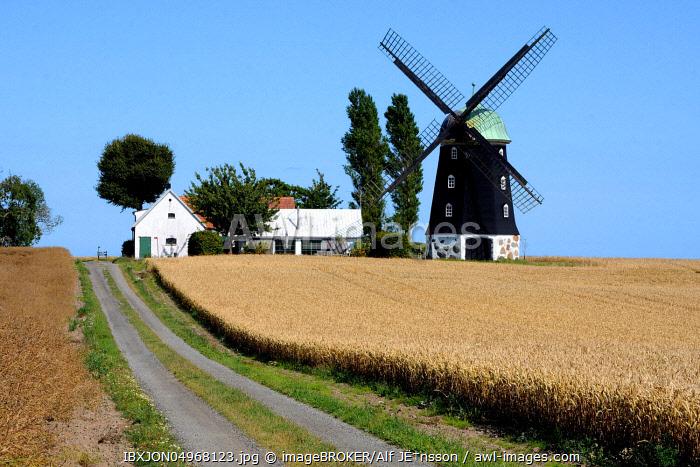 Old windmill in Hagestad, Ystad community, Scania, Sweden, Europe
