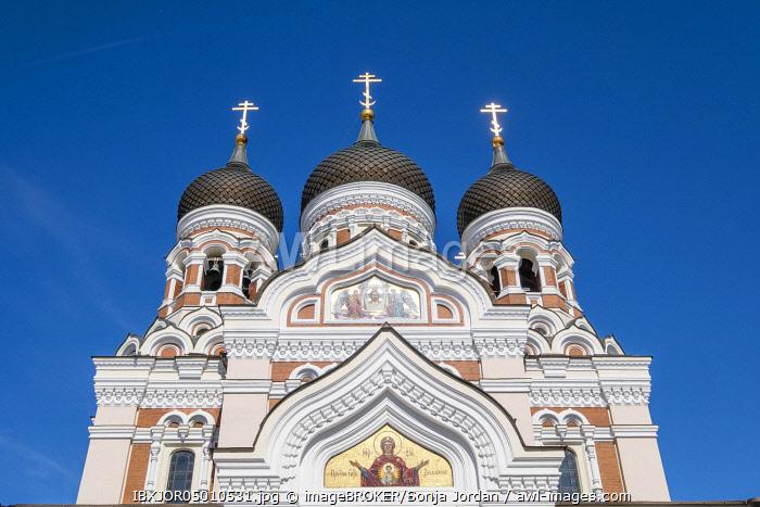 Towers of the Alexander Nevski Cathedral, Aleksander Nevski Katedraal, Tallinn, Estonia, Europe
