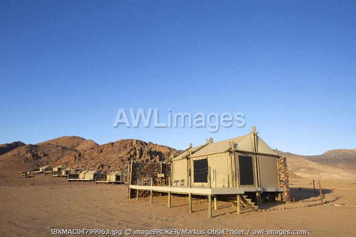 Luxury tents in the Namib Desert, Accommodation, Elegant Desert Lodge, Sesriem, Namibia, Africa