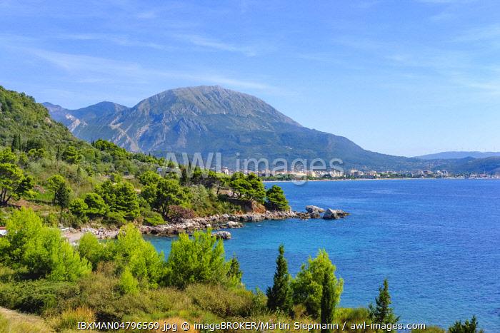 Coast at Crvanj Beach, Bar, Adriatic Coast, Montenegro, Europe