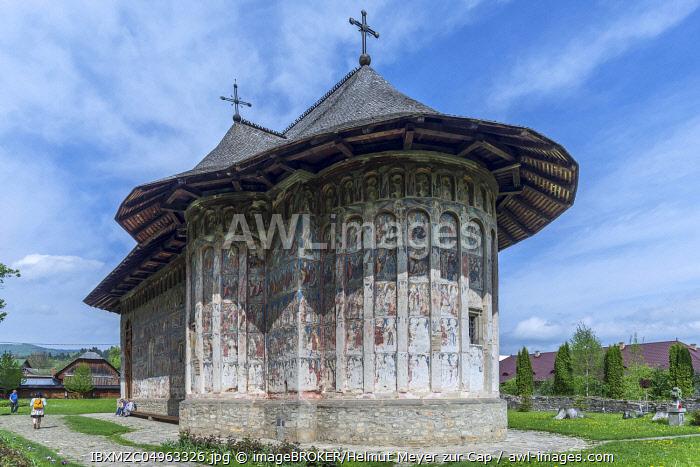 Humor monastery, Adormirea Maicii Domnului monastery church, Orthodox nunnery, Unesco World Heritage site, Moldavian monasteries, Gura Humorului, Romania, Europe
