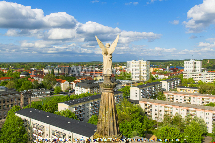 View from the dome of the St. Nicholas Church to prefabricated buildings of the GDR, Potsdam, Brandenburg, Germany, Europe