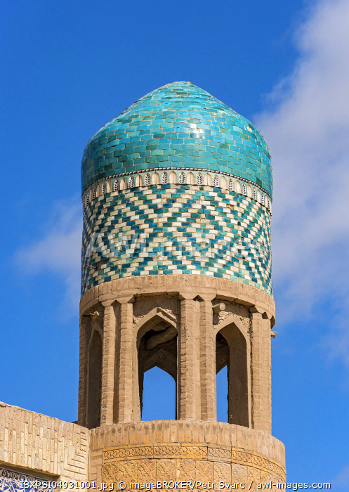 Domed tower of Kutlug Murad Inak Madrassah, Khiva, Uzbekistan, Asia