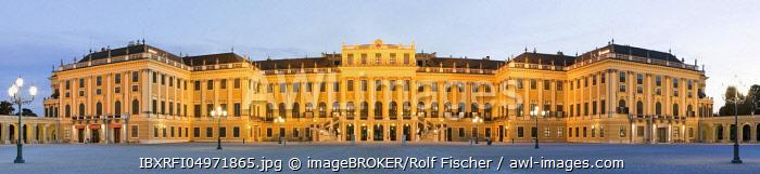 Evening mood, Schonbrunn Palace, Vienna, Austria, Europe