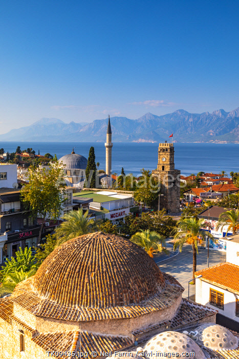 Tekeli Mehmet Pasha Mosque and Clock Tower, Kaleici, Antalya, Turkey