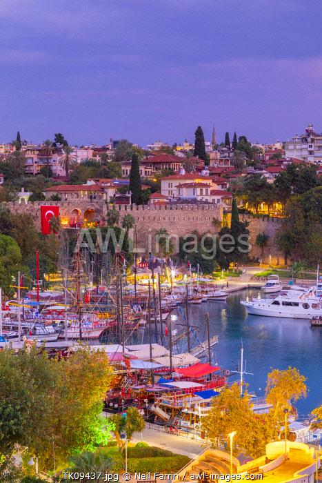 Old Harbour at Dusk, Kaleici, Antalya, Turkey