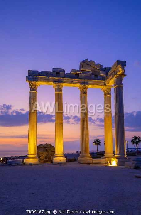 awl-images.com - Turkey / Apollo Temple at Dusk, Side, Turkey