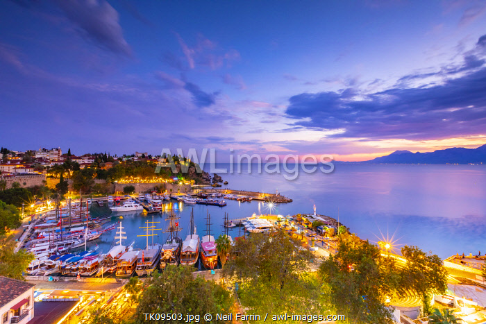 Old Harbour at Dusk, Kaleici, Antalya, Turkey