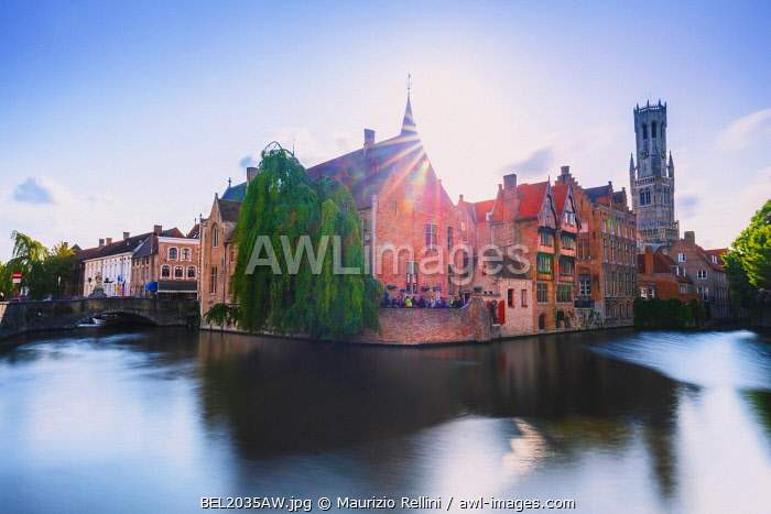 awl-images.com - Belgium / View of Bruges old city reflecting in the canal at sunset, Belgium