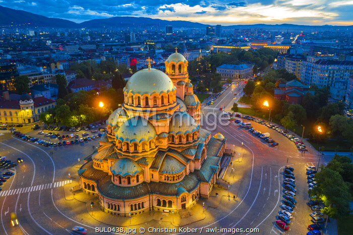 Europe, Bulgaria, Sofia, Alexander Nevsky Russian orthodox cathedral