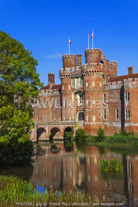 England, East Sussex, Hailsham, Herstmonceux, Herstmonceux Castle