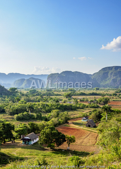 awl-images.com - Cuba / Vinales Valley, elevated view, UNESCO World Heritage Site, Pinar del Rio Province, Cuba