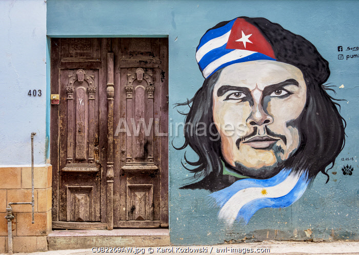 Che Guevara Mural Painting, Centro Habana, Havana, La Habana Province, Cuba
