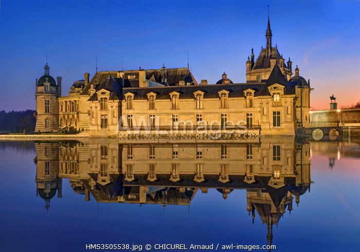 France, Oise, the castle of Chantilly