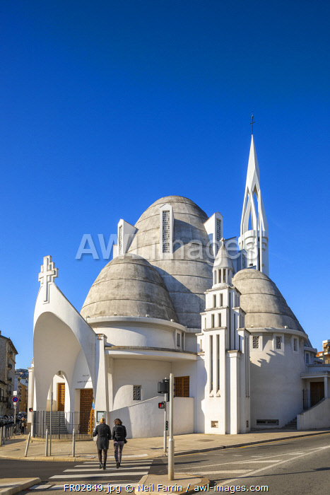 Sainte Jeanne d'Arc Church, Nice, South of France,