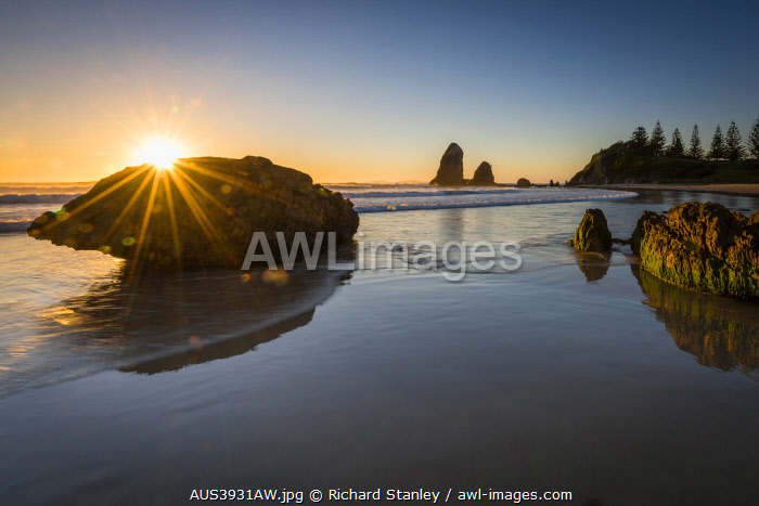 awl-images.com - Australia / Narooma Beach and Glasshouse Rocks. Narooma, South East, New South Wales, Australia