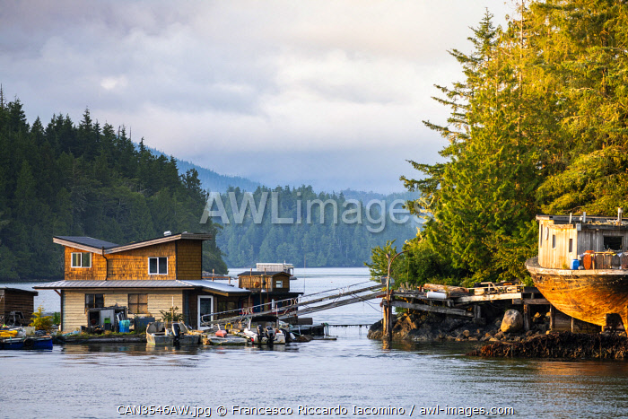 awl-images.com - Canada / Tofino, harbour and clayoquot sound landscape. Vancouver Island, British Columbia, Canada