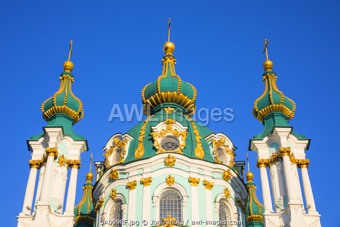 awl-images.com - Ukraine / St. Andrew's church, Kiev (Kyiv), Ukraine