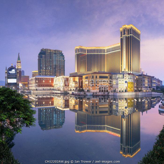 Venetian Hotel at dusk, Macau, China