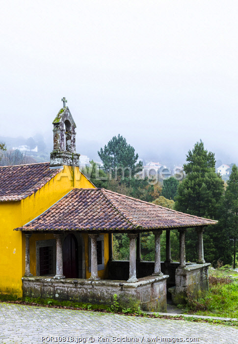 awl-images.com - Portugal / Portugal. Viana do Castelo. Carreco region. An old church on the way to the hamlet of Carreco on the way of St James or Camino Portuges do Costa towards Santiago de Compostela.
