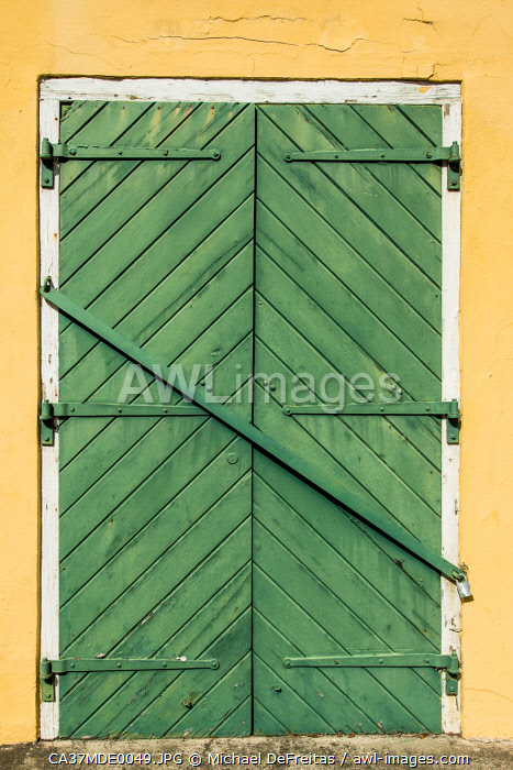 awl-images.com - US Virgin Islands / Old doors downtown Christiansted, St. Croix, US Virgin Islands.