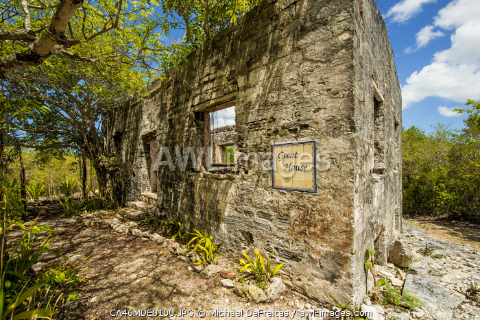 awl-images.com - Turks and Caicos / Wade's Green Plantation Historic Site, North Caicos, Turks and Caicos Islands, Caribbean.