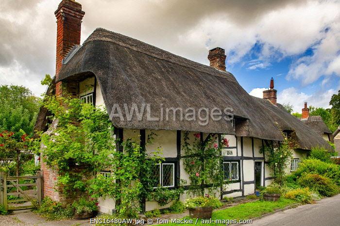 awl-images.com - England / Thatch Cottage, Wherwell, Hampshire, England