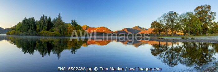 awl-images.com - England / Derwent Water Reflections, Lake District National Park, Cumbria, England