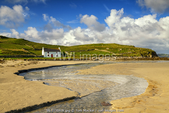 awl-images.com - Ireland / Traditional Irish Cottage on a Beach, County Donegal, Ireland