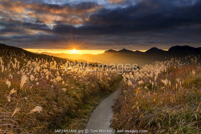 Sunset at Soni Highlands, East Nara Prefecture, Japan
