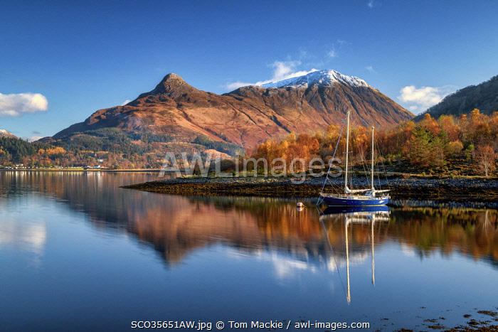 awl-images.com - Scotland / Pap of Glen Coe Reflecting in Loch Leven, Highlands, Scotland