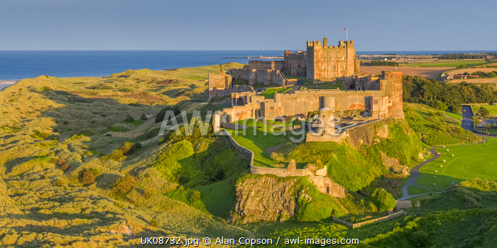 UK, England, Northumberland, Bamburgh, Bamburgh Castle