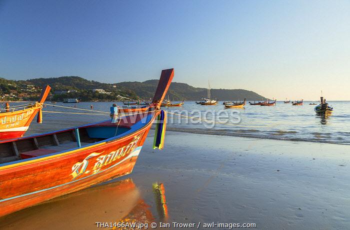Long tail boats on Kata Beach, Phuket, Thailand