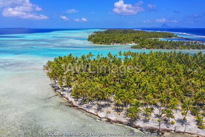 Motu Mahana, Tahaa, Society Islands, French Polynesia, South Pacific.