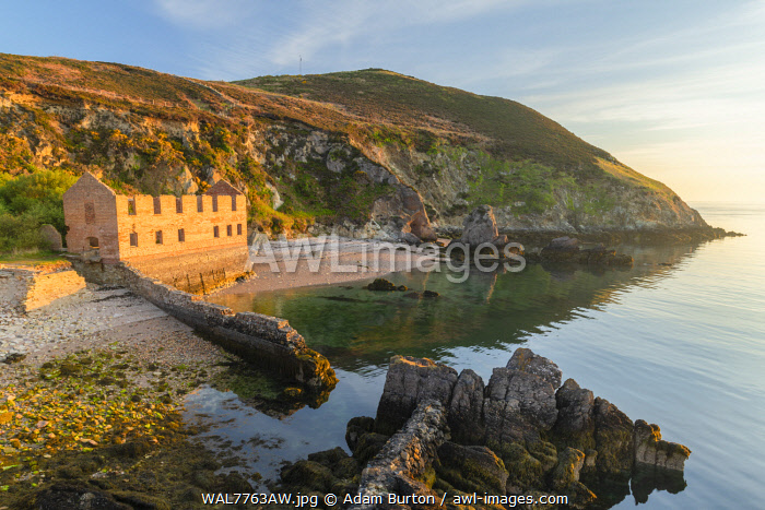 Porth Wen Brickworks on the north coast of Anglesey, Wales